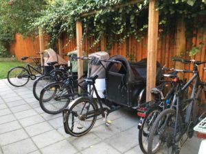 Overdækket cykelskur